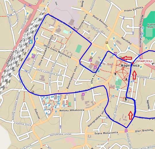 Staza Utrke građana (5km)