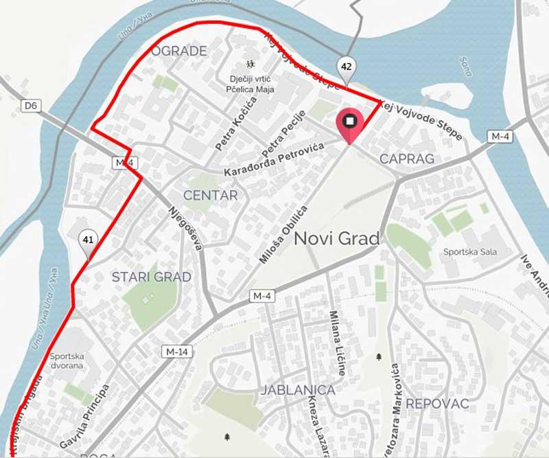 Trasa maratona kroz grad